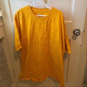 3XL yellow t-shirt